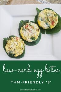 Low-Carb Egg Bites! THM-friendly, keto, Trim Healthy Mama recipe.