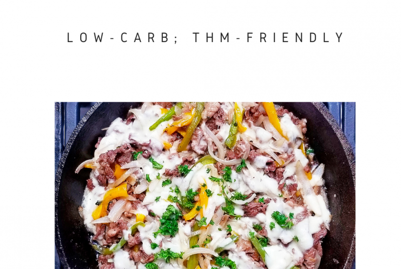 "Easy, delicious low-carb Philly Cheesesteak Skillet! THM ""S"", low-carb"