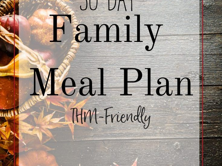 Trim Healthy Mama menu! THM printable menu for the whole family. #thm #trimhealthymama