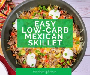 """Easy, delicious low-carb Mexican Skillet! This is a THM """"S"""" recipe! #thm #trimhealthymama"""