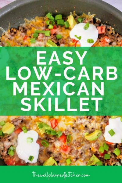"Easy, delicious low-carb Mexican Skillet! This is a THM ""S"" recipe! #thm #trimhealthymama"