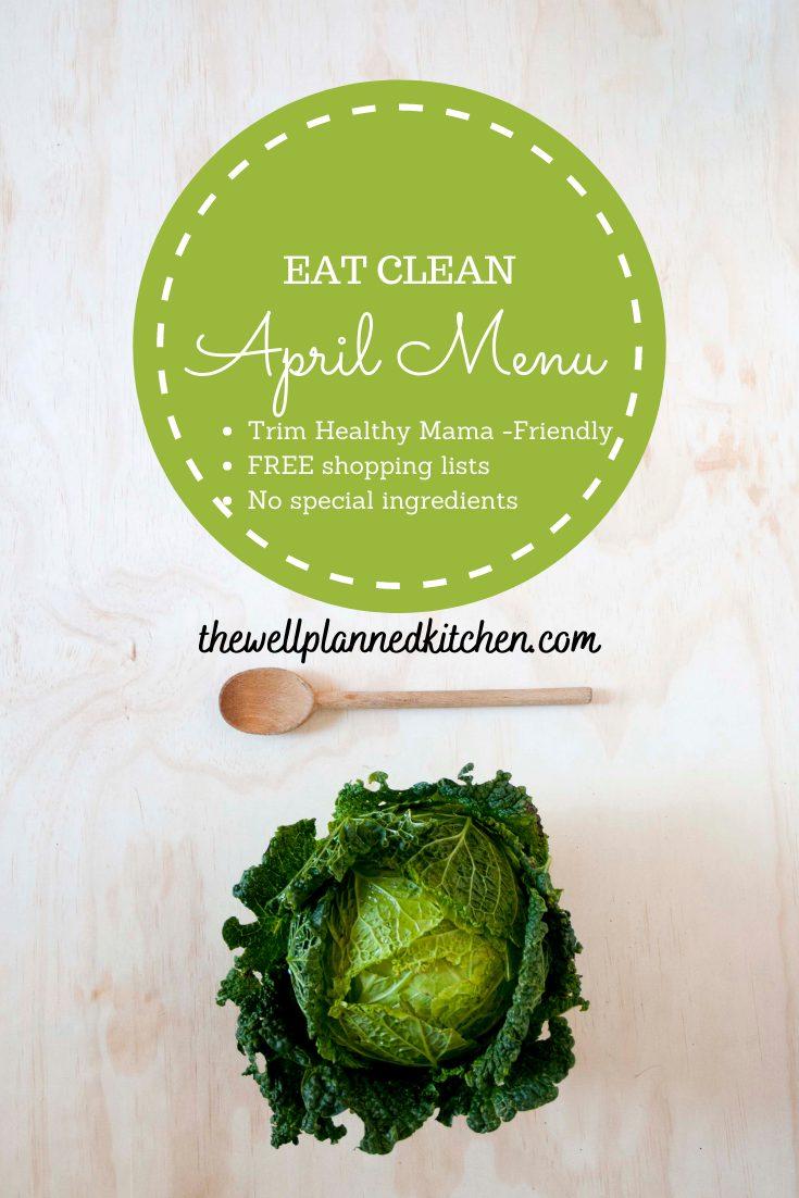 April Trim Healthy Mama Meal Plan